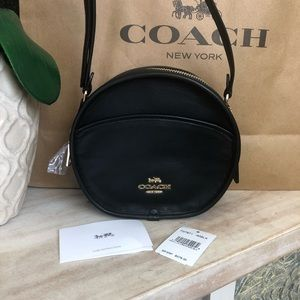 New Women's Coach Canteen Crossbody Handbag-Black